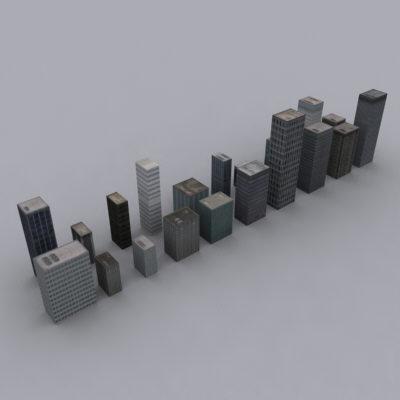 3d 3ds city buildings