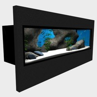 wall aquarium 3d model