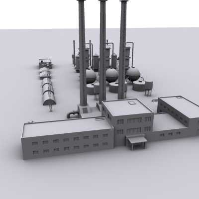 factory industrial structure 3d model