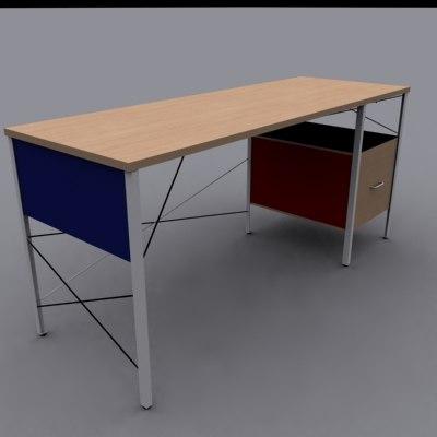 3d model eames desk