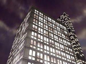 cinema4d hotel new york skyscraper