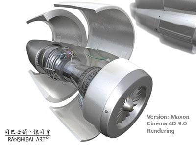 jet engine 3d c4d