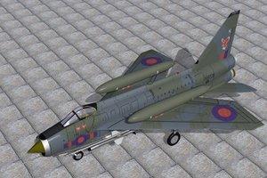 3d english electric lightning f6 model