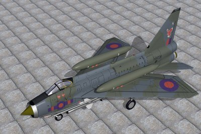 3d english electric lightning f6 model