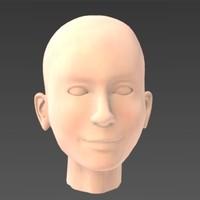 3d head agnes model