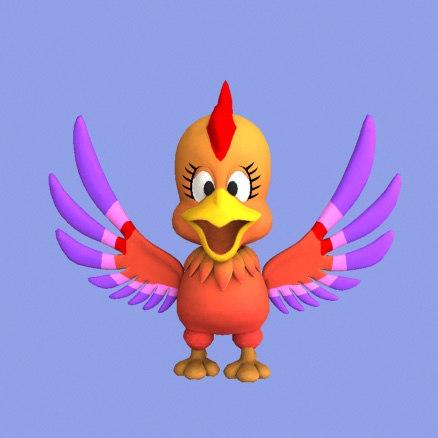 phenix bird 3d model