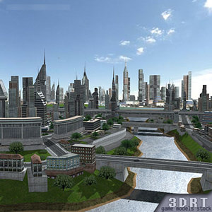 megacity city urban buildings 3d model