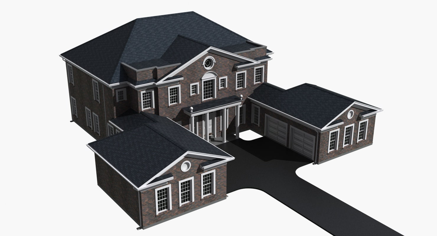 story residential house 3d model