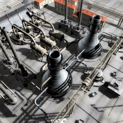 3d nuclear industrial model