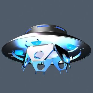 3d model ufo tv invaders