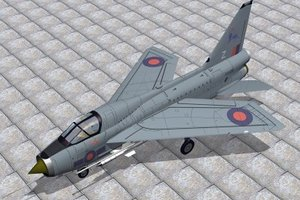 english electric lightning t5 3d model