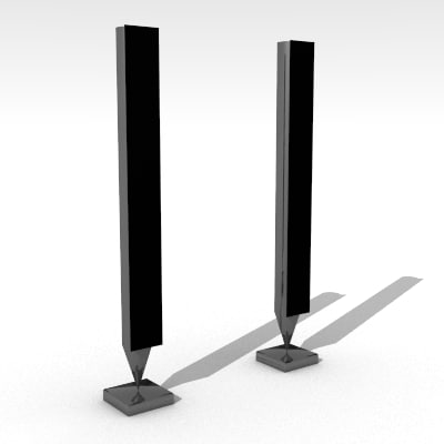 speakers 3d obj
