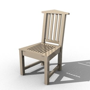 skin chair 3d model