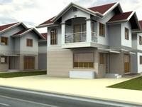 3d 2 storey residential