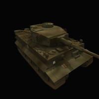 3d tank model