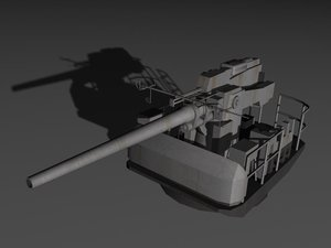 gun 17mm 3d max