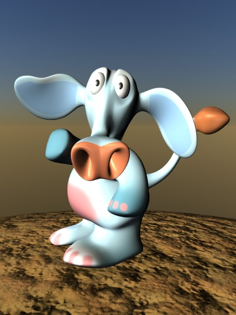 3d cartoon elephant