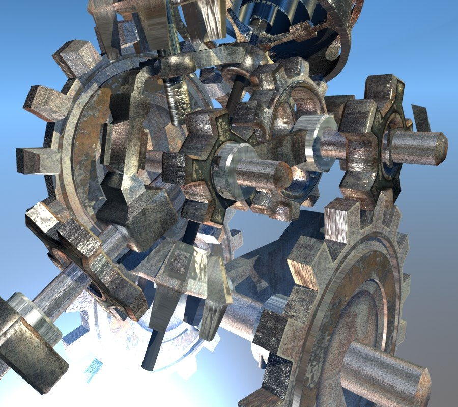 3d gear mechanism model