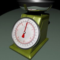 Metal kitchen scales