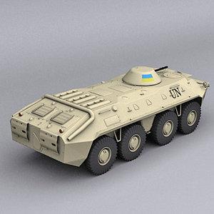 3d model btr 70 peacekeeper