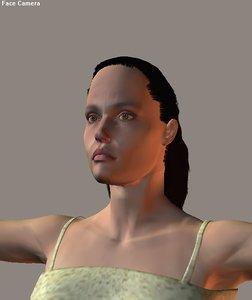 3d model angelina jolie