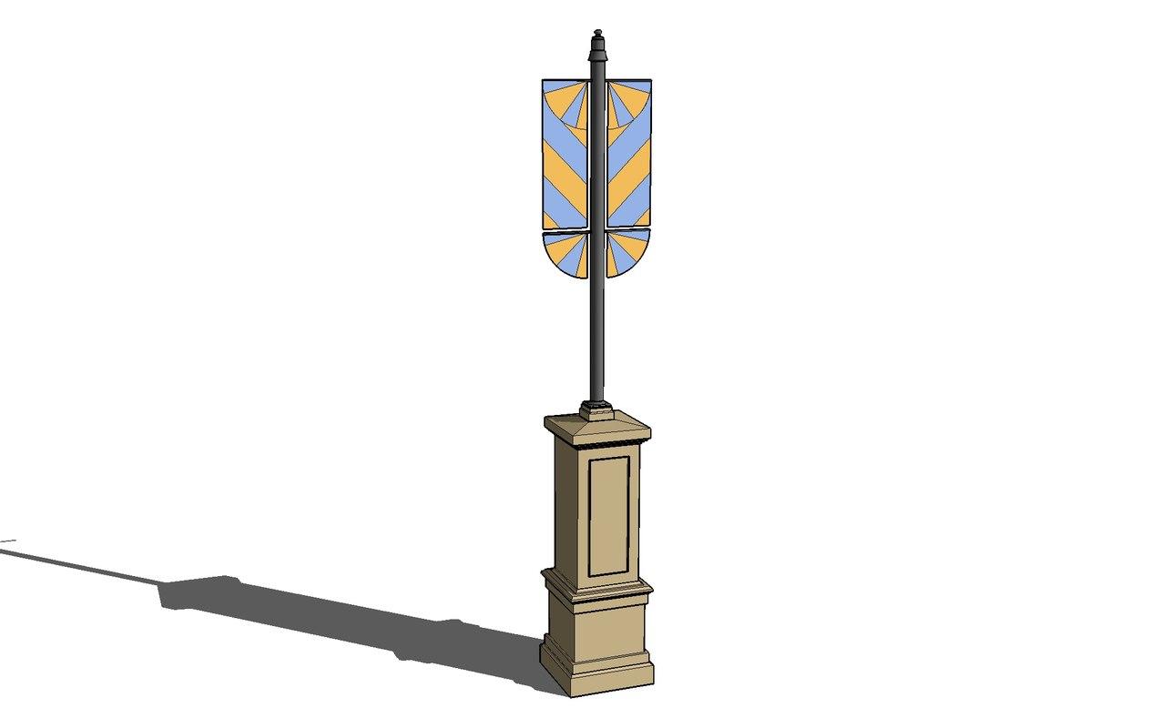 3d e pedestal banners