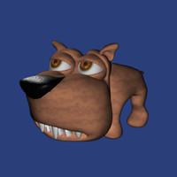appealing cartoon dog 3d model