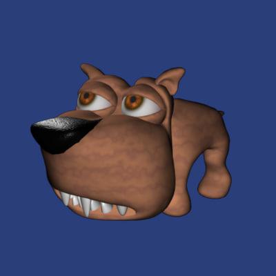 appealing cartoon dog 3d model