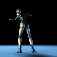3d female robot robeca model