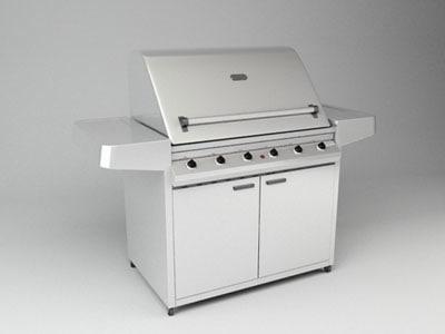 3d bbq gas grill model