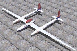 virgin global flyer 3d model