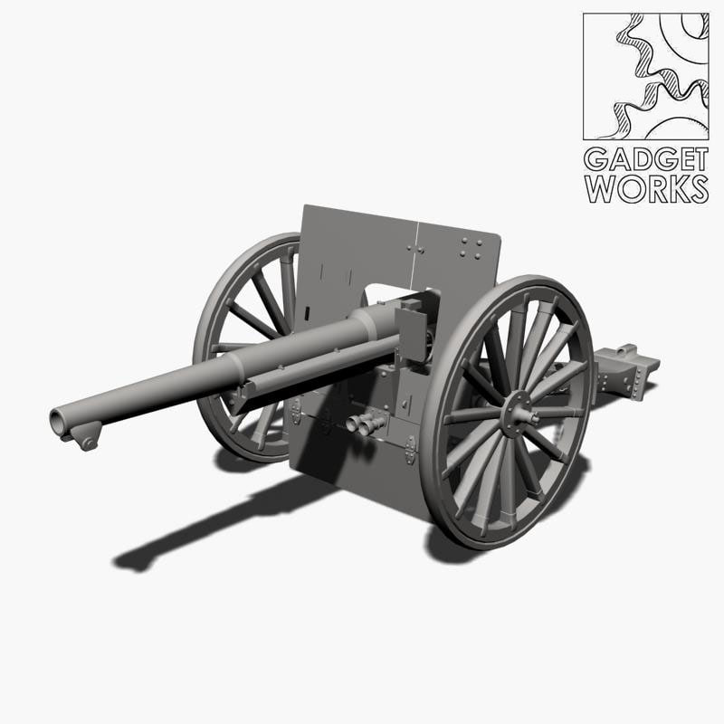3d max m1897 75mm gun 1897