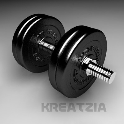 3d gym weights project model