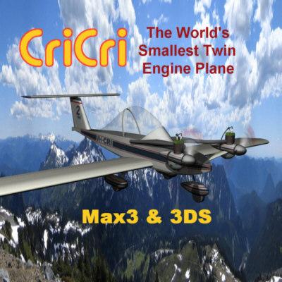 cricri smallest twin engine 3d model