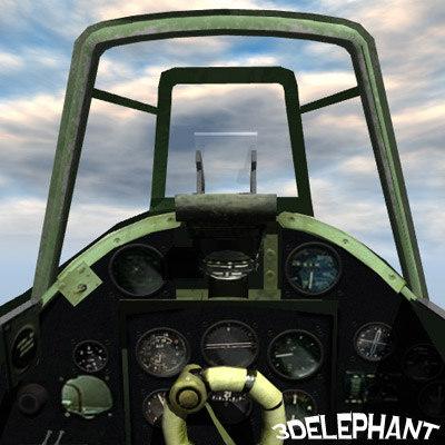 hawker hurricane cockpit 3d model