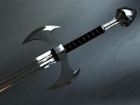 reflective sword 3d model