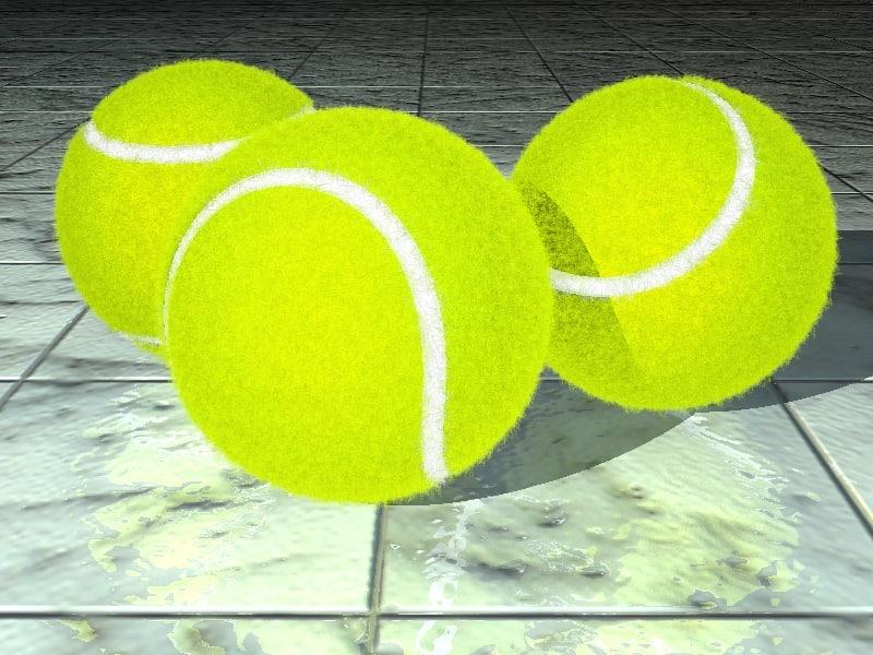 tennis balls hair tennisball 3d model