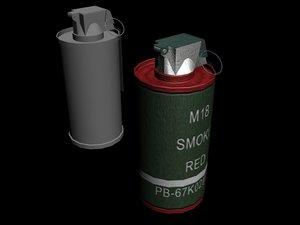 smoke normal mapped 3d model