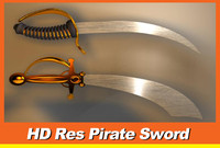 3d sword pirates model