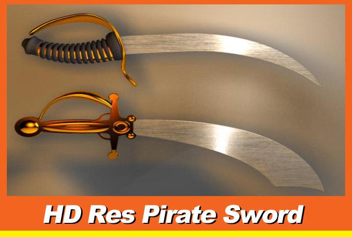 3d sword pirates model