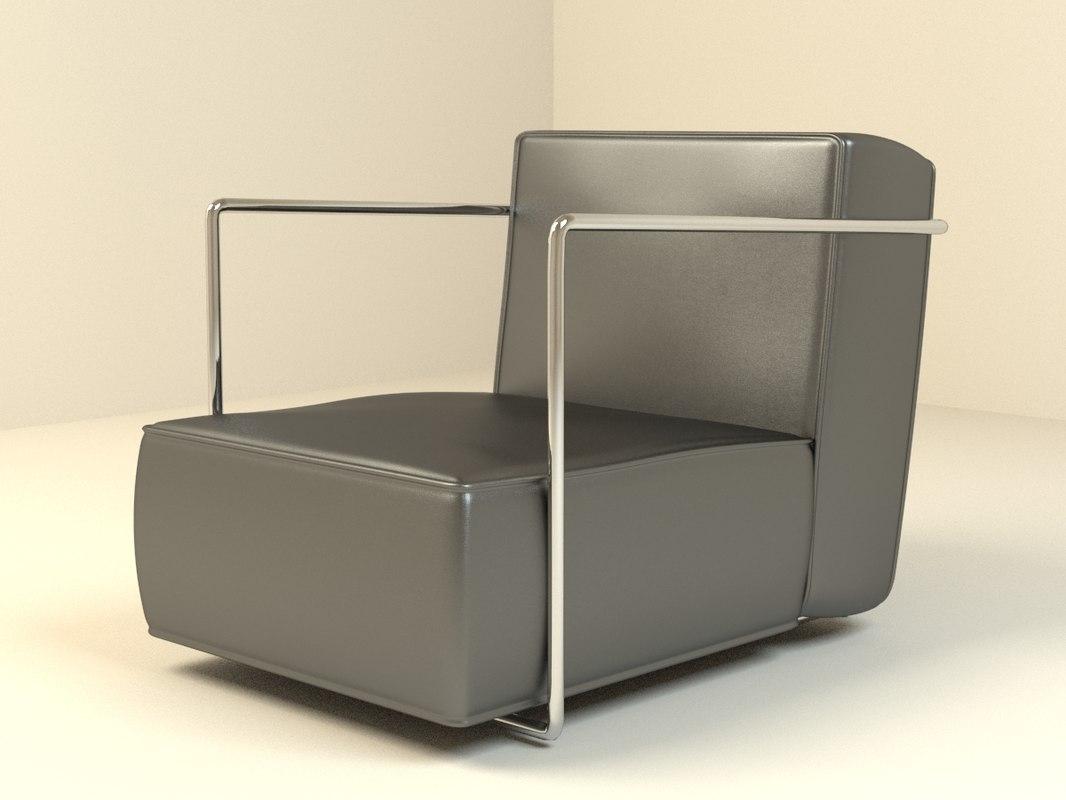 3d abc armchair model