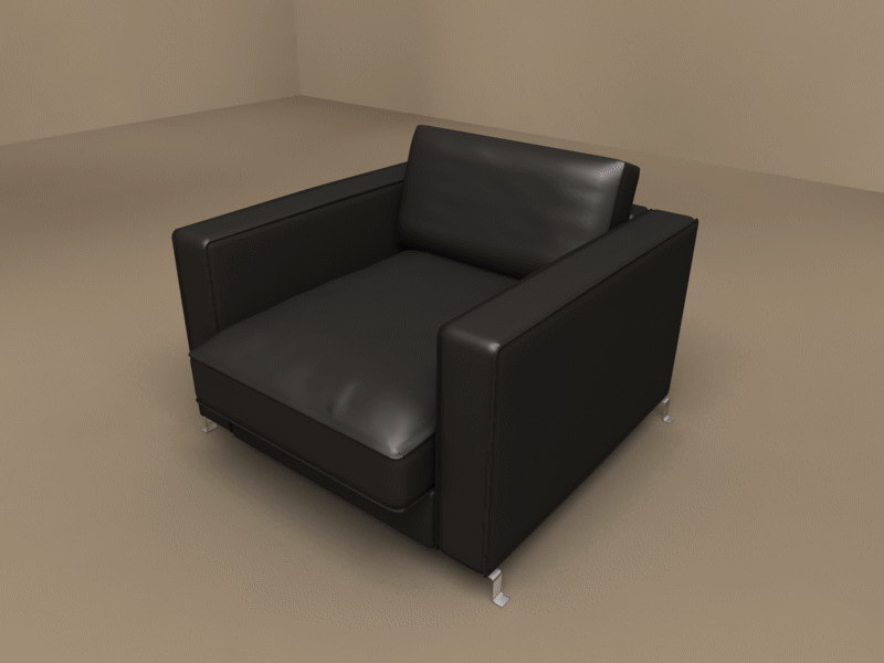 3ds max bob armchair