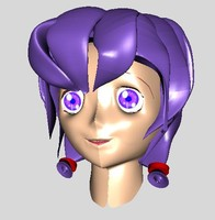 free head manga character 3d model