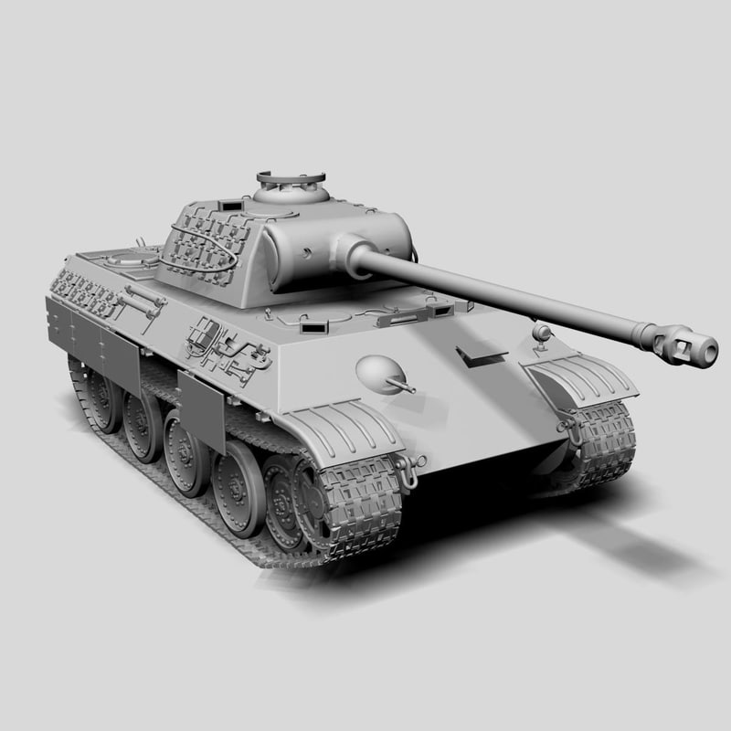 3d panther ausf tank model