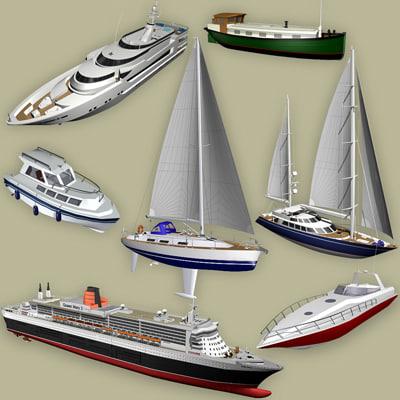 3d model boat yachts