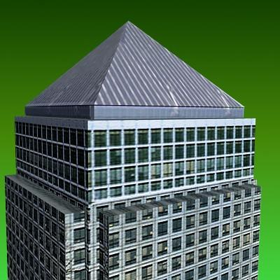 canada wharf building 3d 3ds