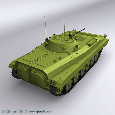bmp-2 fighting vehicle 2 3d model