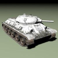 t34 tank 76mm 3d model