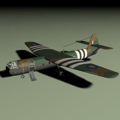 horsa glider 3d model