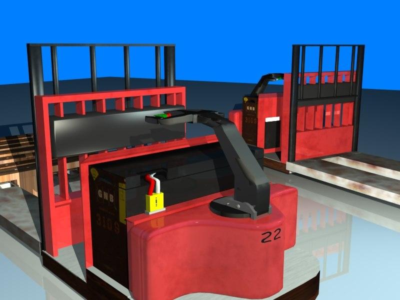 tugger pallets 3d model